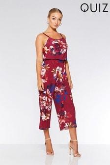 Quiz Floral Culotte Jumpsuit