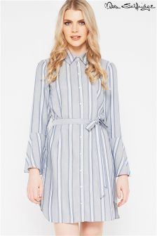 Miss Selfridge Stripe Flute Sleeve Shirt Dress