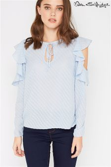 Miss Selfridge Petite Cold Shoulder Shirt