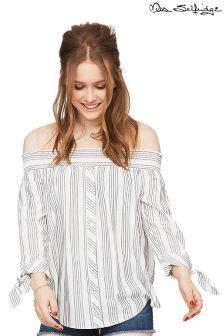 Miss Selfridge Stripe Bardot Blouse