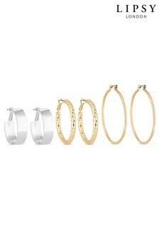 Lipsy Textured Hoop Earring Set