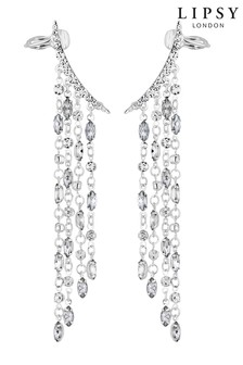 Lipsy Crystal Droplet Ear Cuff Set