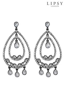 Lipsy Crystal Multi Hoop Statement Earring
