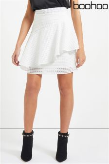 Boohoo Frill Detail Mini Skirt