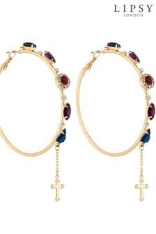 Lipsy Multi Crystal Embellished Hoop Earring
