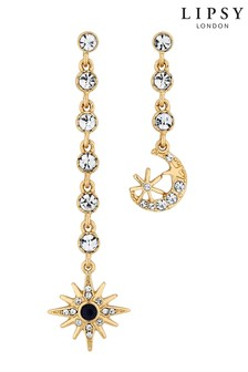 Lipsy Celestial Crystal Mismatched Earring Set