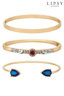 Lipsy Crystal Embellished Stacking Bracelet Set