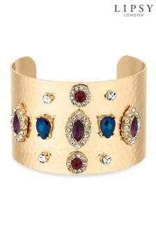 Lipsy Crystal Embellished Chunky Cuff Bracelet