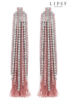 Lipsy Crystal Diamanté Fringe Drop Earring