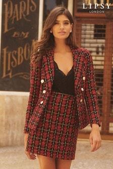 Veste Lipsy en maille bouclée motif écossais