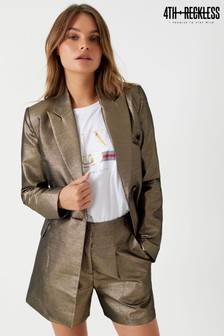 4th And Reckless Metallic Tie Blazer