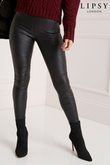 Lipsy Stella High Rise Skinny Coated Regular Length Jeggings