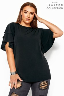 Yours Limited Collection Curve Flared Angel Sleeve Top