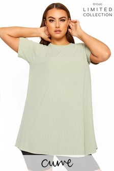 Yours Limited Collection Curve Ribbed Swing T-Shirt
