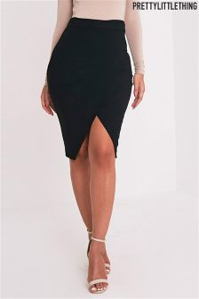 PrettyLittleThing Aislynn Wrap Skirt
