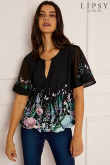 Lipsy Chain Printed Wrap Blouse