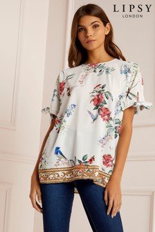 Lipsy Floral Chain Print Tee