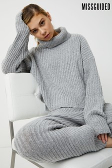 Missguided Ribbed Knit Jumper