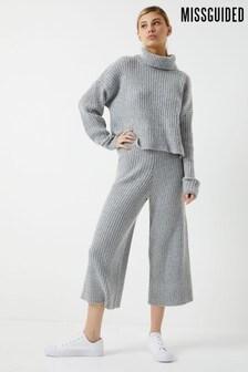 Pantalon Missguided en maille côtelée
