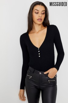 Missguided Plunge Bodysuit