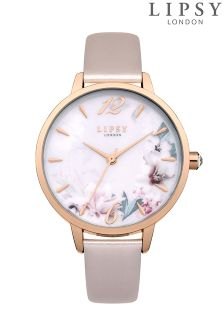 Lipsy Metallic Floral Watch