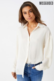 Missguided Hammered Satin Shirt