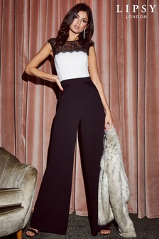 Lipsy Lace Trim Jumpsuit