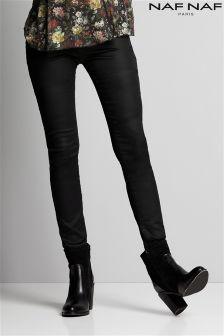 Окрашенные зауженные джинсы Naf Naf
