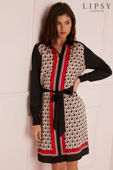 Lipsy Geo Print Shirt Dress