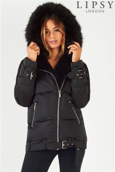 Lipsy Asymmetric Zip Padded Jacket