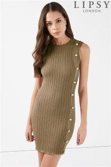 Lipsy Sleeveless Button Dress