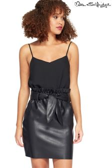 Miss Selfridge PU Paperbag Skirt