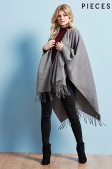 Pieces Fringe Detail Cape