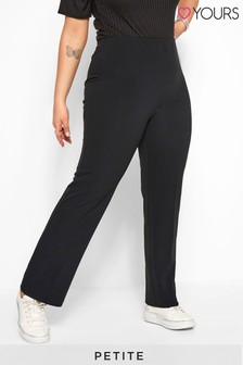 """Yours Curve 28"""" Bestseller Pull On Ribbed Bootcut Trousers - Petite"""
