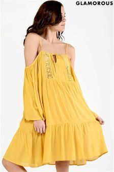 Glamorous Cold Shoulder Smock Dress