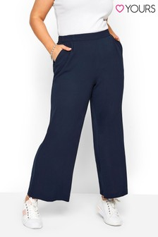 Yours Curve Crepe Single Pleat Trousers