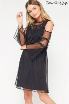 Miss Selfridge Embroidered Mesh Dress