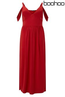 Boohoo Plus Cold Shoulder Maxi Dress