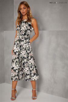 Mela London Floral Culotte Jumpsuit