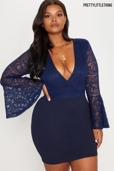 PrettyLittleThing Curve Lace Bodycon Dress
