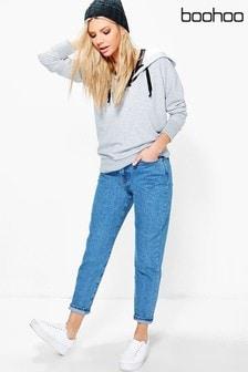 Boohoo Mom-Jeans mit mittelhohem Bund