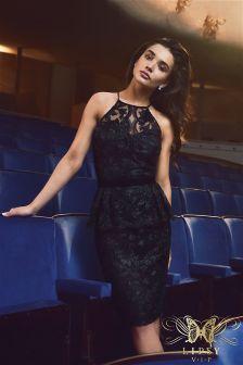 Lipsy VIP Lace Peplum Dress