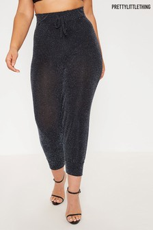 PrettyLittleThing Curve Side Stripe Casual Trousers