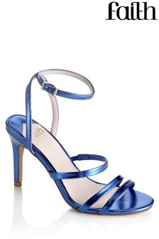 Faith Mid Heel Strappy Sandals