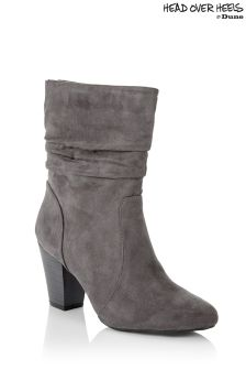 Head Over Heels Ruched Calf Boots