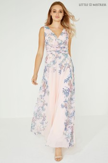 Little Mistress Floral Wrap Maxi Dress
