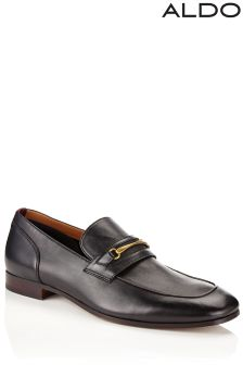 Aldo Leather Buckle Loafers