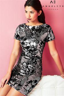 Angeleye Velvet Sequin Party Dress