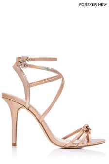 Forever New Slim Bow Strappy Sandals