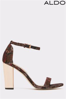Aldo Two Piece Mid Heel Block Sandals